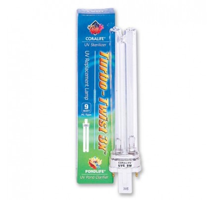 Coralife UV Replacement Lamp for Turbo-Twist 3x - 9 W