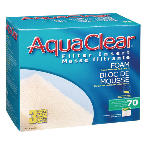 Foam Filter Insert for AquaClear 70/300 - 3 pk